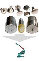 Auswahl Druckknopf Presse , Werkzeug fur Hohlnieten Einseitige und Zweiseitige Kopf