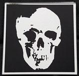 Skull Glasuntersetzer 15cm x 15cm
