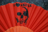 Skull Fächer orange Nr. 9