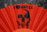 Skull Fächer orange Nr. 5