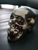 Skull Spardose chrom