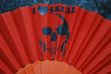 Skull Fächer orange Nr. 7