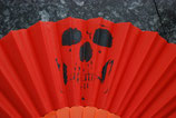 Skull Fächer orange Nr. 10