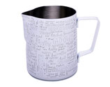 Milchkännchen mit Pulverbeschichtung, Motiv / Text