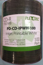 CD-R Plexdisc Medical Grade Inkjet Printable White