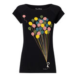 Balloons Girl Cap Sleeve black