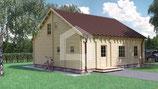 Casa abitativa Delia due piani il legno massello Siberiano.