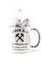 Kaffeepott Glück Auf Recklinghausen inkl. Miniaturen