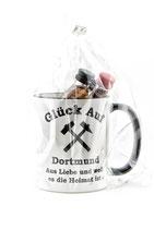 Kaffeepott Glück Auf Dortmund inkl. Miniaturen