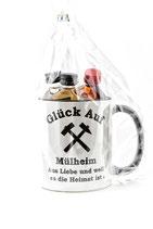 Kaffeepott Glück Auf Mühlheim inkl. Miniaturen