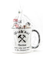 Kaffeepott Glück Auf Herne inkl. Miniaturen
