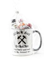 Kaffeepott Glück Auf Schalke inkl. Miniaturen