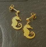 Ohrstecker 'Seepferdchen' golden
