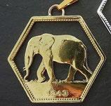 'Elefant' Kongo 6-eckig golden