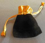 Schmuckbeutel Schwarz-Gold