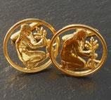 Manschettenknöpfe 50 Pfennig golden