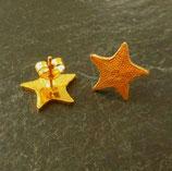 Ohrstecker Seestern golden (ohne Münzring)