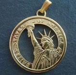Präsidentendollar Liberty, vergoldet