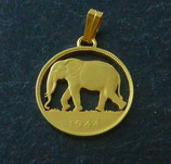 2 Franc Kongo 'Elefant' golden
