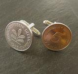 Manschettenknöpfe 5 Pfennig
