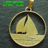 Bermuda-Dollar Segelyacht vergoldet