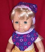 Puppen Winterset Mütze und Halstuch