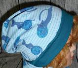 Kindermütze blau Kitty Play