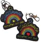 Regenbogen Anhänger im Doppelpack