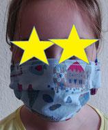 Behelfs - Mund - Nase - Maske (2fach Baumwolle / Zippverschluß)