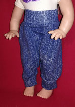 Leger Puppenhose in Jeansoptik