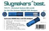 Slugmaker´s best T23-71 Shotshell f Umarex t4e HDS68 Schrotpatronen für 9x6mmBBs