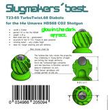 24x Slugmakers best TurboTwist.68 cryptonite für die Umarex HDS68 (24pieces pack)