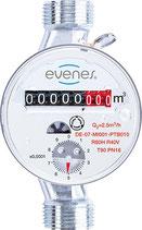 """Wasserzähler EVENES Q3 2,5, DN15(1/2""""),Bl: 80mm inkl.Beglaubigungsgebühr"""