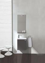 Badmöbel-Set ELYP Serie MAU ,Waschtisch mit Unterschrank und Spiegel