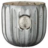 Dante Teelicht Pudergrün, Silber