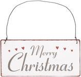 Metallschild Merry Christmas