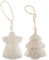 Tannenbaumschmuck Tannenbaum und Engel Glitter