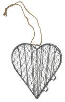 Herz aus Draht zum Hängen klein
