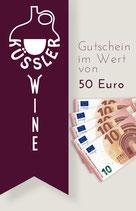 GUTSCHEIN im Wert von 50,– Euro
