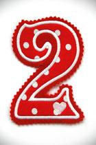 Nr. 2 rot – weiss gepunktet