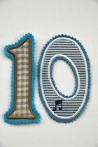 Nr. 10 blau – beige