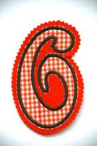 Nr. 6 orange – braun