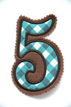 Nr. 5 braun – blau kariert