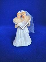 Hochzeitspaar mit Herzreif (w/w)