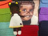 África (muñeca amigurumi) + 1 mes comedor Escuela Canguro