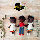 Melkam o Habesha (muñecos amigurumi) + 1 mes comedor Escuela Canguro