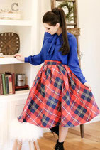 Retrolicous Madison Skirt Plaid