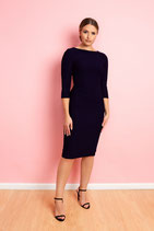 Camille Pencil Dress navy