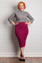 Emese Pencil Skirt rasperry
