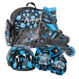 Tempish UFO Skateset für Kinder verstellbar blau / schwarz